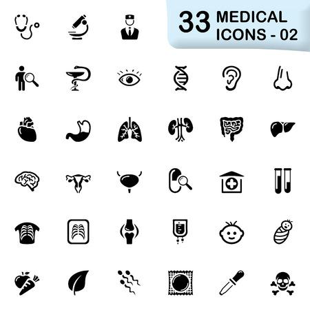 33 검은 의료 아이콘 02 사이즈 아이콘 : 32 × 32의 PX. 일러스트