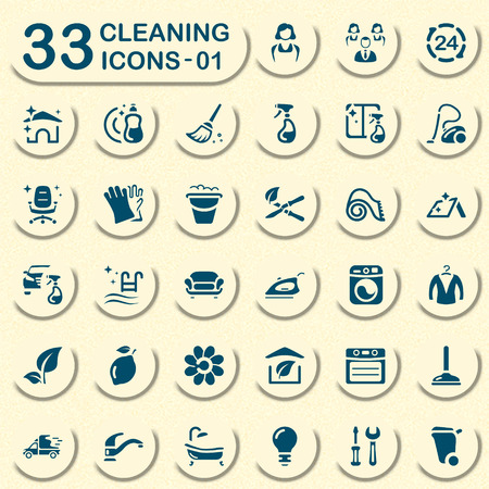 wet cleaning: Jeans cleaning service icons for mobile apps and web Illustration