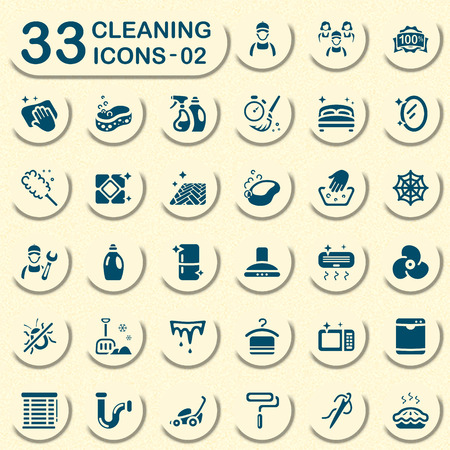 icicles: Jeans cleaning icons for mobile apps and web