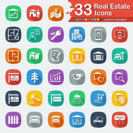 lookup: White Flat Real Estate Icons