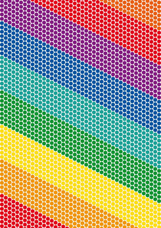 doted: Easy vector rainbow background of colored dots