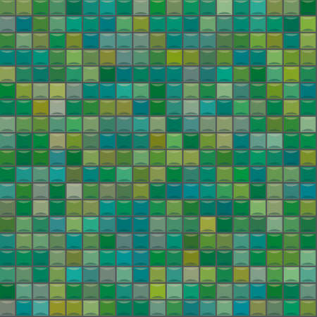 chipped: colored mosaic with green tiles
