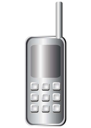 locution: Telephone receiver silver color icon  Illustration