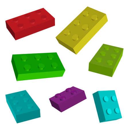 construct: construeren speelgoed Stock Illustratie