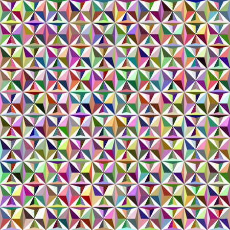 tessellation structure: Triangle vector seamless pattern in bright colors Illustration