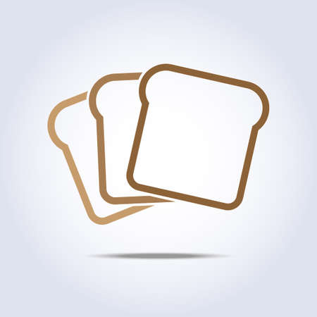 toast icon in beige color Stock Vector - 29430299