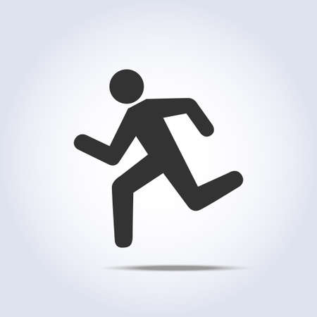 runners: simple running human icon silhouette
