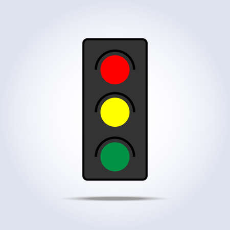 traffic light icon in one object