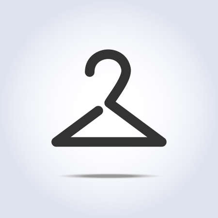 Hanger icon on gray background Vector