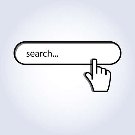 Hand cursor mouse on search  Vector