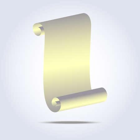 Vintage paper scroll icon. Vector illustration  Illustration