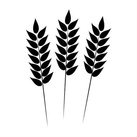 plantar: Wheat icon. Vector illustration