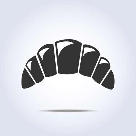 bagel: bagel eenvoudige symbool Stock Illustratie