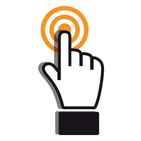achieving: Achieving goal icon orange gray colors