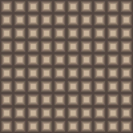 tessellation structure: Squares seamless pattern light brown colors Illustration