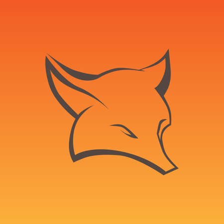 foxy: Fox sign in curve lines Illustration