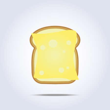 white bread: White bread toast icon with cheese