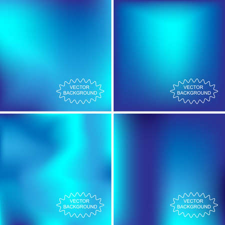 blurring: Set of abstract vector backgrounds Illustration
