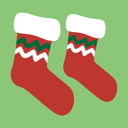GRADIANT: Vector drawing of a christmas socks Illustration