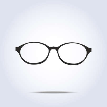 Glasses icon on gray background. Vector illustration Stok Fotoğraf - 35078219