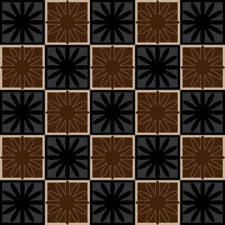 tessellation structure: Squares seamless pattern brown colors. Vector illustration