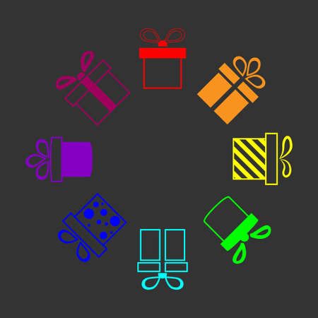 fancy box: rainbow presents