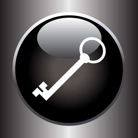 black button: Key icon on black button