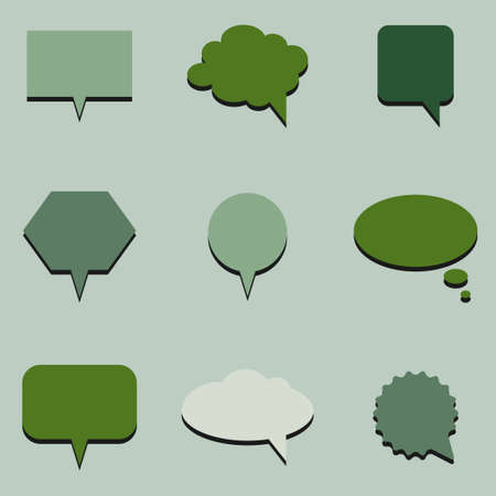 gloss banner: Green communication bubbles Illustration
