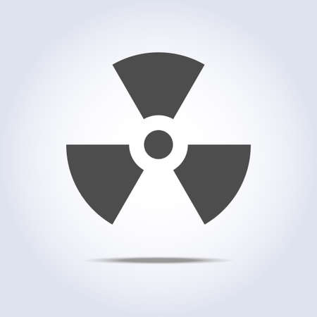 gamma: Radioactivity icon in gray colors Illustration