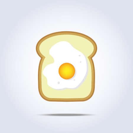 white bread: White bread toast icon with egg