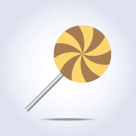 lollipop caramel icon on gray background