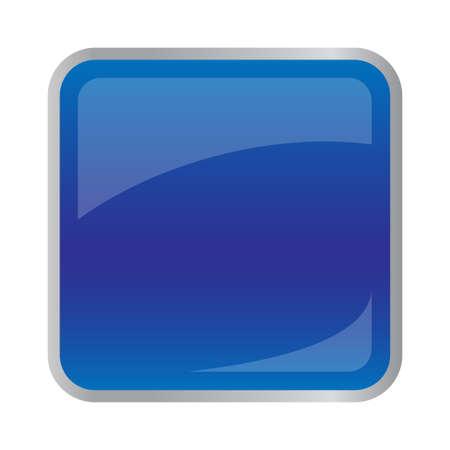 正方形のウェブサイトのための濃い青のボタン  イラスト・ベクター素材