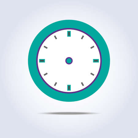 chronometer: Abstract chronometer icon green color