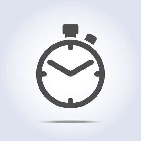 chronometer: Abstract chronometer icon gray color Illustration