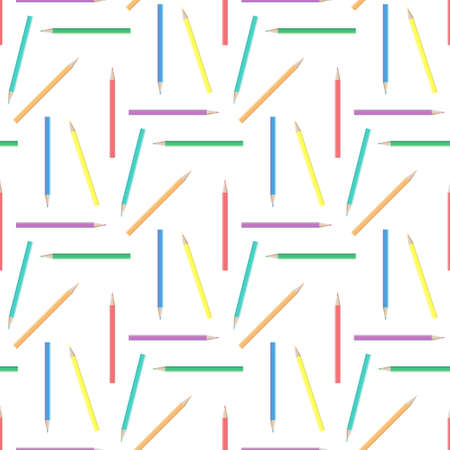 pensils: Abstract rainbow pensils seamless background Illustration