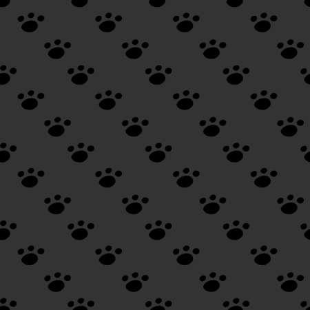 Animal footprint seamless dark pattern Vector