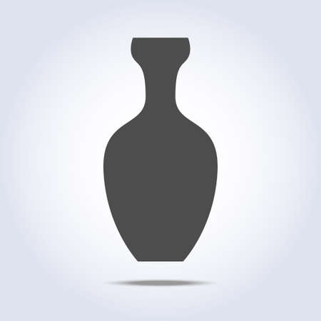 gray colors: Vase icon in gray colors