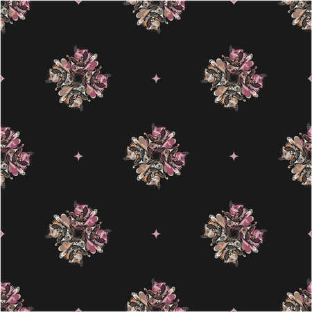 discrete: abstract seamless pattern Illustration