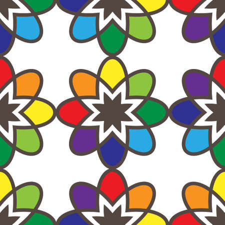tessellation structure: Flower seamless pattern bright colors