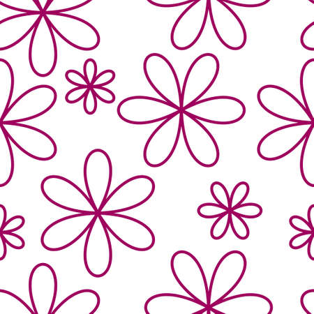 tessellation structure: Flower seamless pattern pink color. Vector illustration