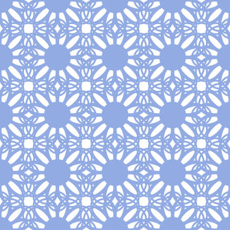 tessellation structure: Floral seamless pattern blue color. Vector illustration