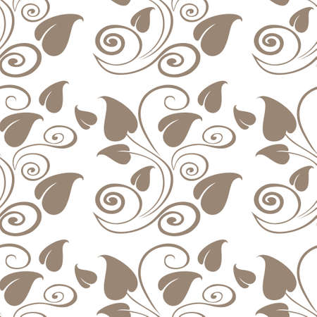 discrete: Abstract monochrome floral seamless pattern in vector Illustration