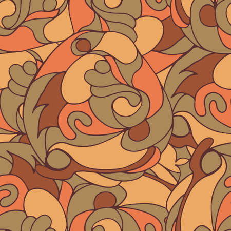 discrete: Abstract warm floral seamless pattern in vector
