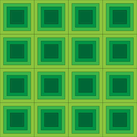 tessellation structure: Squares seamless pattern green colors. Vector illustration