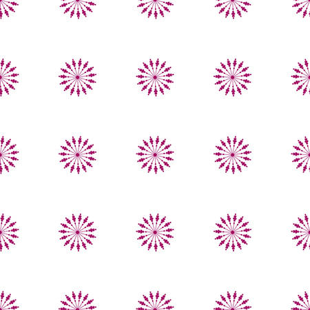 discrete: Flower seamless pattern pink color. Vector illustration