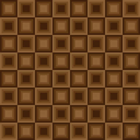 tessellation structure: Squares seamless floor pattern brown colors. Vector illustration Illustration