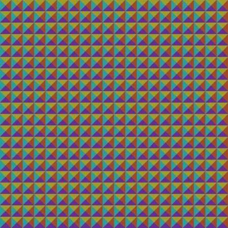 discrete: Triangle seamless pattern bright color. Vector illustration