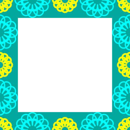 art frame: Hand drawn doodle art frame. Vector illustration