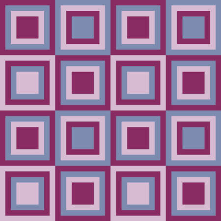 tessellation structure: Squares seamless pattern lilac colors. Vector illustration