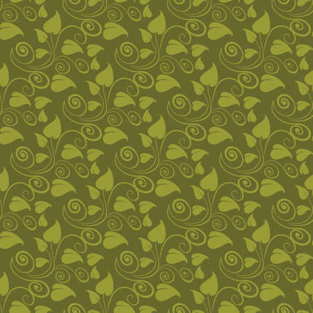 discrete: Abstract green floral seamless pattern in vector